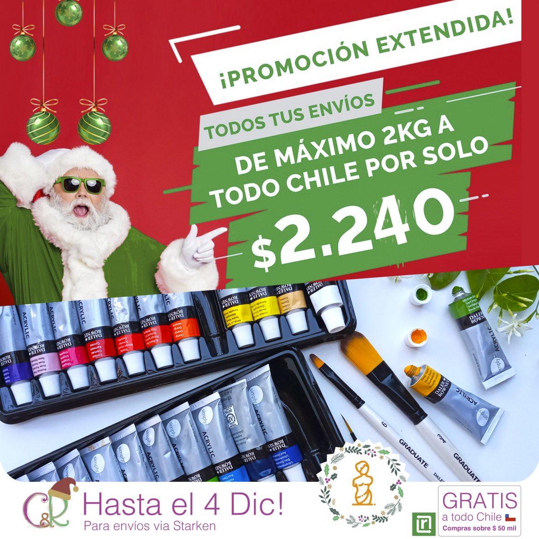 A todo Chile $ 2240 – Hasta el 4 de Dic 2020!
